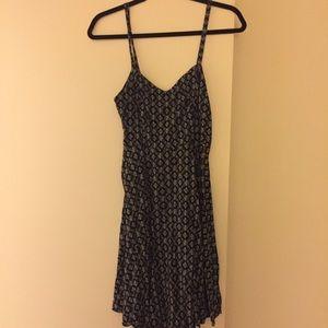 Black patterned Old Navy Cami Dress